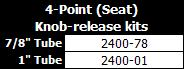 IC Rehab 4Point Seat Knob Release Kits