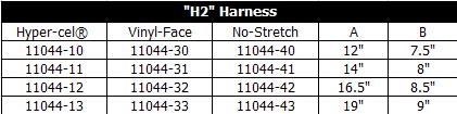 H2 Harness Table
