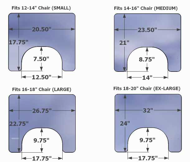 Innovative Concepts Tray Sizing Chart